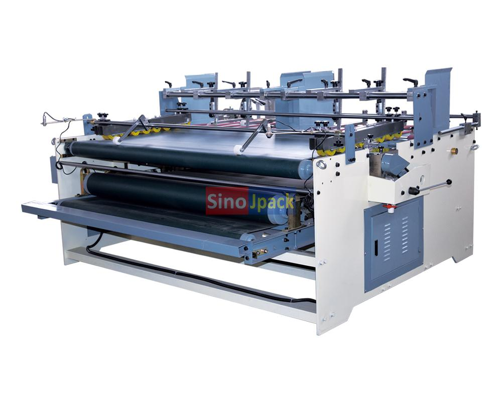 Semi-automatic gluing machine